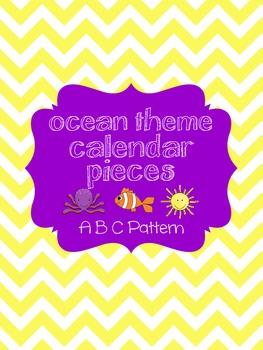 Ocean Theme Calendar Pieces