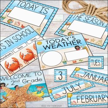 Classroom Calendar Set - Ocean Theme Classroom Decor
