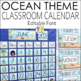 Ocean Theme Calendar Set - Ocean Theme Classroom Decor