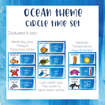 Ocean Theme - Circle Time Set