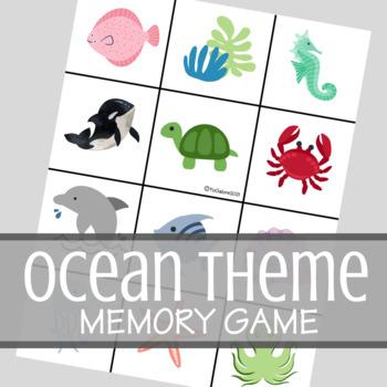 Ocean Theme Classic Memory Card Game