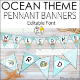 Ocean Theme Welcome Banners - Editable Ocean Theme Decor