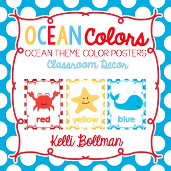 Ocean Theme Classroom Colors {Classroom Decor Posters}