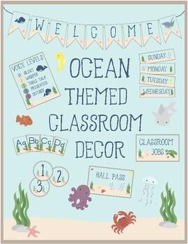 Ocean Theme - Classroom Decor - All In One Bundle