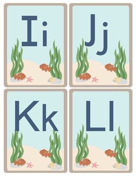 Ocean Theme - Classroom Decor - Alphabet