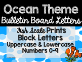 Ocean Theme Classroom Decor: Bulletin Board Block Letters