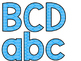Ocean Theme Classroom Decor: Bulletin Board Block Letters