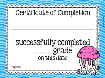 Ocean Theme Classroom Decor: Certificates & Awards