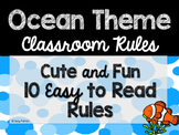 Ocean Theme Classroom Decor: Classroom Rules