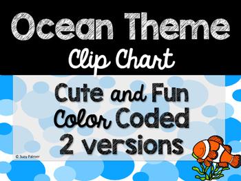 Ocean Theme Classroom Decor: Clip Chart