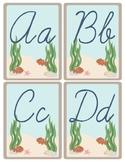 Ocean Theme - Classroom Decor - Cursive Alphabet