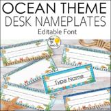 Ocean Theme Name plates Editable! Ocean Theme Classroom Decor