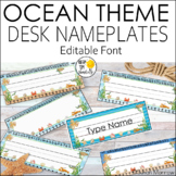 Ocean Theme Name plates Editable! Ocean Theme Classroom Decor