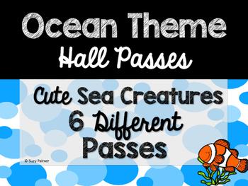 Ocean Theme Classroom Decor: Hall Passes