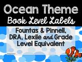 Ocean Theme Classroom Decor: Library Level Labels