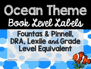 Ocean Theme Classroom Decor: Library Level Labels