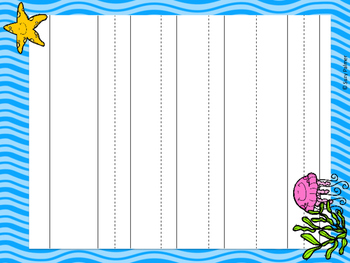 Ocean Theme Classroom Decor: Lined Papers