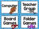 Ocean Theme Classroom Decor: Math Center Labels