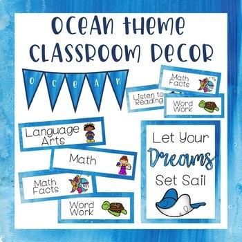 Ocean Theme Classroom Decor - Mega Bundle (Growing Bundle)