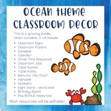 Ocean Theme Classroom Decor - Mega Bundle (Growing Bundle)