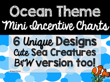 Ocean Theme Classroom Decor: Mini Incentive Charts