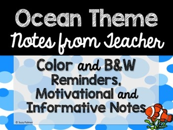 Ocean Theme Classroom Decor: Notes from Teacher
