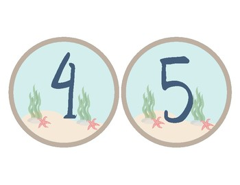 Ocean Theme - Classroom Decor - Numbers