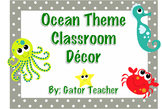 Ocean Theme Classroom Decor Packet