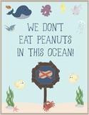Ocean Theme - Classroom Decor - Peanut Allergy Poster FREE