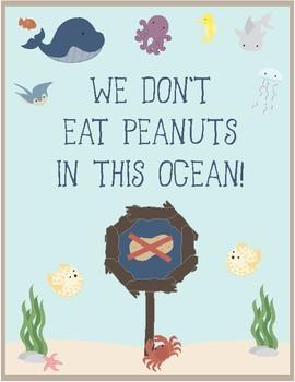 Ocean Theme - Classroom Decor - Peanut Free Classroom Posters