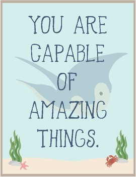 Ocean Theme - Classroom Decor - Quote Posters