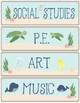 Ocean Theme - Classroom Decor - Schedule