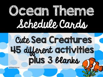 Ocean Theme Classroom Decor: Schedule Cards