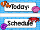 Ocean Theme Classroom Decor: Schedule Cards