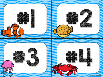 Ocean Theme Classroom Decor: Table Signs