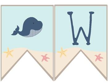 Ocean Theme - Classroom Decor - Welcome Banner
