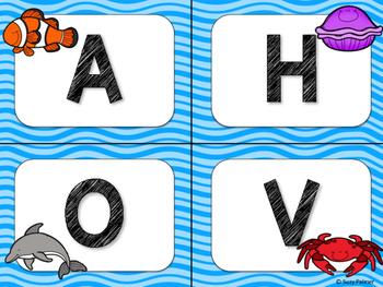 Ocean Theme Classroom Decor: Word Wall Headers