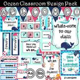 Nautical Classroom Decor Theme (Editable) | Classroom Themes Decor Bundle