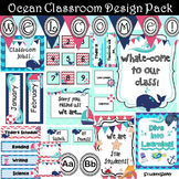 Nautical Classroom Decor Theme (Editable)   Classroom Themes Decor Bundle