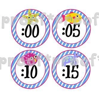 Ocean Theme Clock Numbers