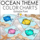 Ocean Theme Color Posters - Ocean Theme Classroom Decor