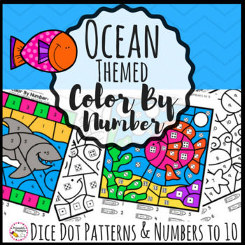 Ocean Theme Color by Number