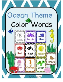 Ocean Theme Color Words