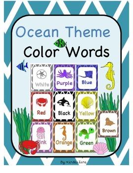Ocean Theme Color Words