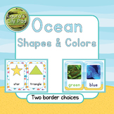 Ocean Theme Colors and Shapes Signs