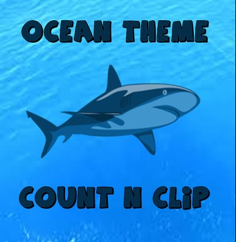 Ocean Theme - Count N Clip (Numbers 1-10)