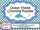 Ocean Theme Counting Puzzles (#'s 1 - 5)
