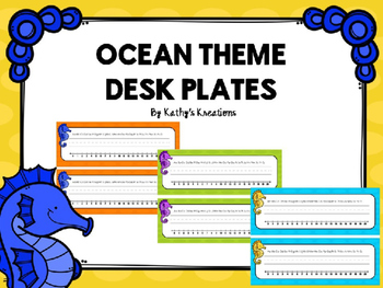 Ocean Desk Plates - Editable