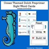 Ocean Theme Dolch Preprimer Sight Words