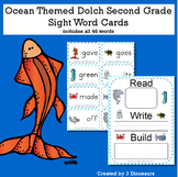 Ocean Theme Dolch Second Grade Sight Words